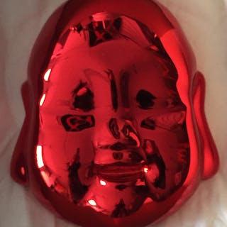 RAY MONDE - BEBE BOUDDHA ROUGE 15X12CM