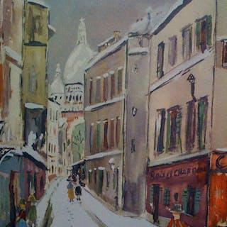 UTRILLO Maurice - La Rue Saint-Rustique