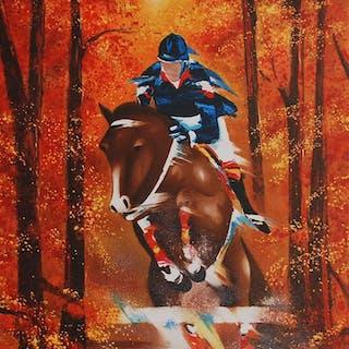 SPAHN Victor - Course de chevaux en automne