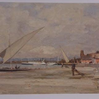 BOCION François - Ouchy, les hangars roses