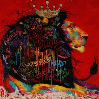 Noé TWO - KING OF THE JUNGLE 120X120CM