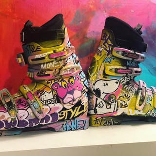 Art VLADI - Chaussures Ski Snoopy/Pink Panthere