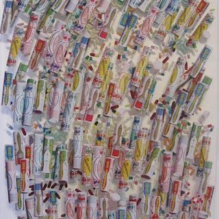 ARMAN Pierre Fernandez - Tube de Médicaments 76X56,5X4CM
