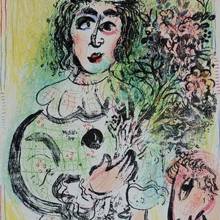 CHAGALL Marc - Le clown fleuri