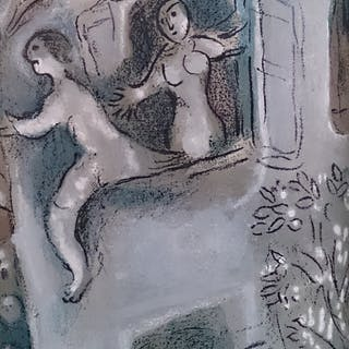 CHAGALL Marc - David saved by Michal