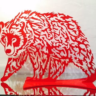 DANU - Ours 50cm rouge