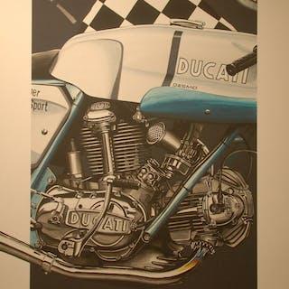 BURLET Philippe - Moto Ducati 750