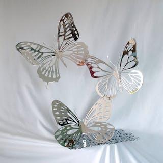 DANU - Trio de papillons Chromés