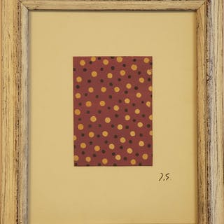 GERMAIN Jacques - COMPOSITION AUX POINTS  24X18.5CM