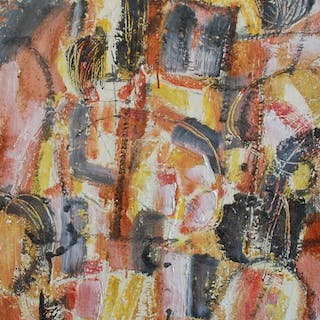 KIJNO Ladislas - COMPOSITION 1955 80X40CM