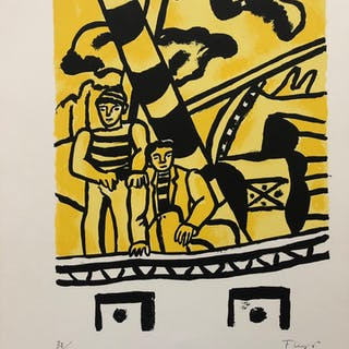 LEGER Fernand - Le remorqueur jaune