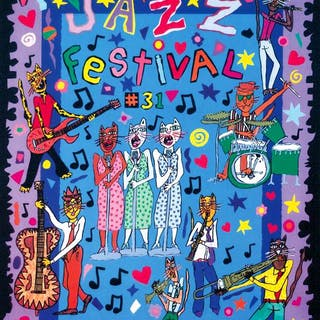 MONTREUX JAZZ FESTIVAL - James Rizzi 1997