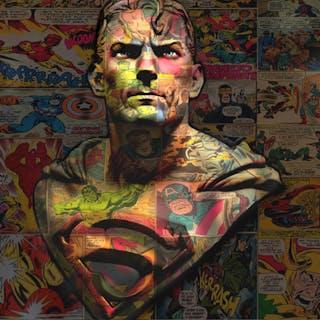DIRTY Hans - SUPERMAN 77X64CM