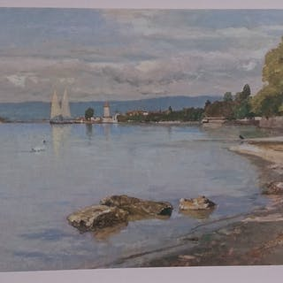BOCION François - Ouchy, vu du Denantou