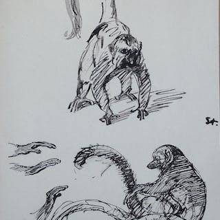 STEINLEN Théophile-Alexandre - Chats et autres bêtes