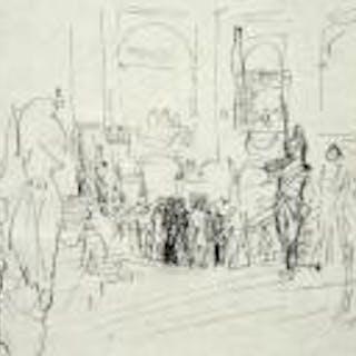 DUFY Raoul - L'arrivée à l'Opéra