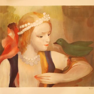 LAURENCIN Marie - Jeune fille à l'oiseau
