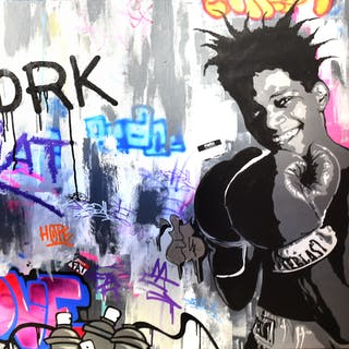 FAT - JEAN MICHEL BASQUIAT 89X146CM