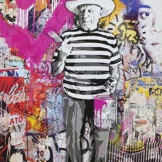 MR. BRAINWASH - Pablo Picasso