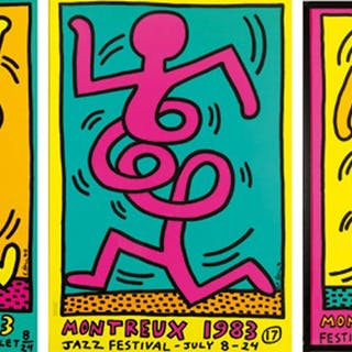 MONTREUX JAZZ FESTIVAL - Keith Haring 1983 - 3 versions