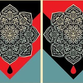 BLOOD AND OIL MANDALA (SET OF 2) - OBEY (SHEPARD FAIREY)