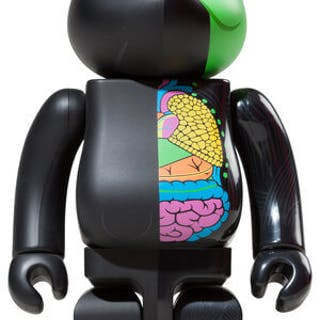 KAWS BLACK DISSECTED COMPANION 400% - BE@RBRICK