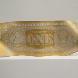 One dollar mat - Gold