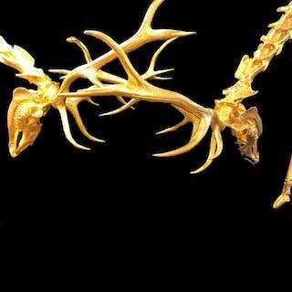 Battle Royal red Deer stag skeletons