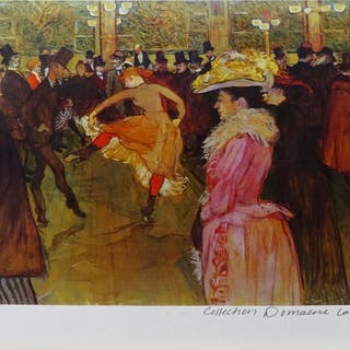 """Toulouse Lautrec: """"Dance at the Moulin Rouge"""" 12/375"""
