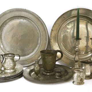18th/19th century pewter