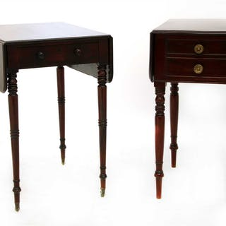 A Victorian mahogany Pembroke table
