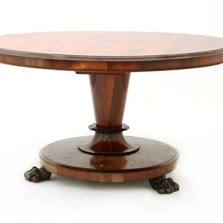 A William IV rosewood loo table