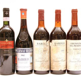 Assorted Red Wine to include: Giacosa Fratelli, Barolo, two bottles