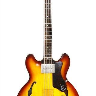 A 1964 Epiphone Rivoli bass guitar