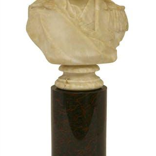 An alabaster bust of Admiral Sir Edmund Lyons