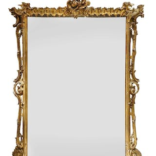 A Victorian giltwood overmantel mirror