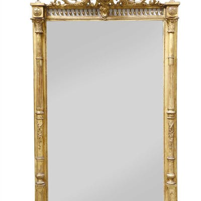 A Victorian giltwood and gesso overmantel mirror