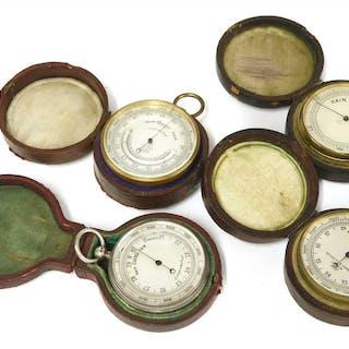 Four pocket barometers