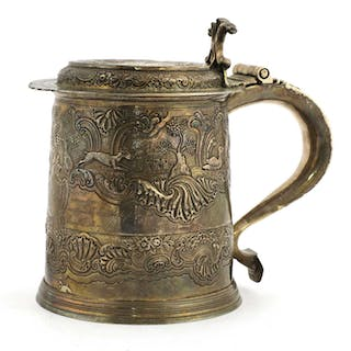 A William and Mary silver tankard