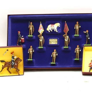 A collection of boxed Britains toy soldiers