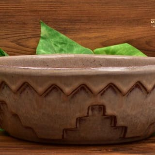 Mountainside Pottery 1929-41 Arts and Crafts Geometric Pattern Brown