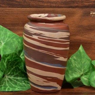Niloak Pottery 1910-24 Mission Swirl Vase Shape L 5.75 inch