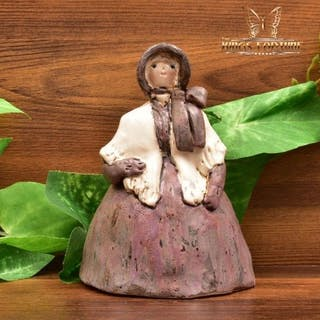 Overbeck Pottery 1911-55 Quaker Lady with Cape in Purple Figurine