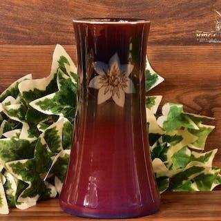 Rookwood Pottery 1927 Black Opal 'Jonquil Floral' Vase #1358E Harriet Wilcox