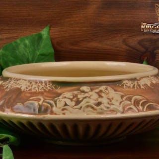 Roseville Pottery 1915 Donatello Flying Saucer Bowl #90