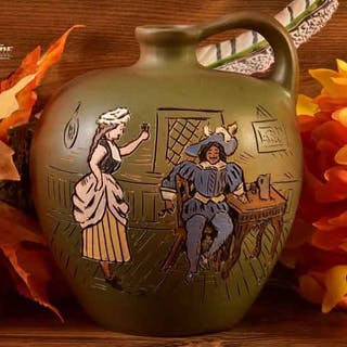 Weller Pottery 1900-05 Dickensware II Whiskey Jug Old England Bar