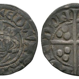 English Medieval Coins - Edward II - Canterbury - Long Cross Penny