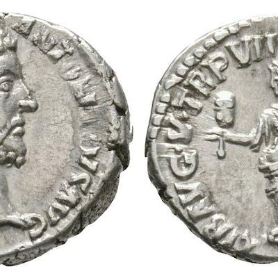 Ancient Roman Imperial Coins - Commodus - Liberalitas Denarius