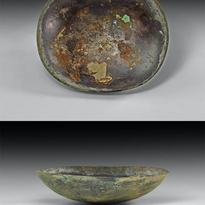 Byzantine Silver Bowl with Dove