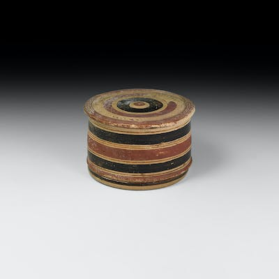 Greek Boeotian Painted Pyxis